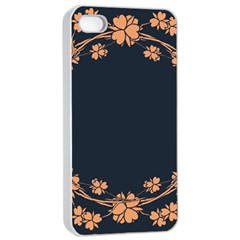 Floral Vintage Royal Frame Pattern Apple Iphone 4/4s Seamless Case (white)