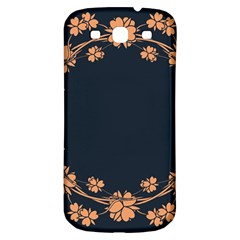 Floral Vintage Royal Frame Pattern Samsung Galaxy S3 S Iii Classic Hardshell Back Case