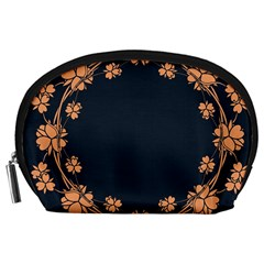 Floral Vintage Royal Frame Pattern Accessory Pouches (large)