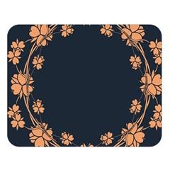 Floral Vintage Royal Frame Pattern Double Sided Flano Blanket (large)