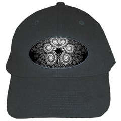 Fractal Filigree Lace Vintage Black Cap