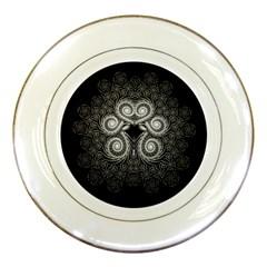 Fractal Filigree Lace Vintage Porcelain Plates