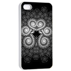 Fractal Filigree Lace Vintage Apple Iphone 4/4s Seamless Case (white)