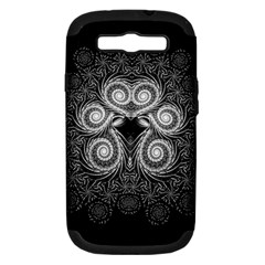 Fractal Filigree Lace Vintage Samsung Galaxy S Iii Hardshell Case (pc+silicone)