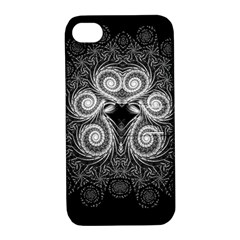 Fractal Filigree Lace Vintage Apple Iphone 4/4s Hardshell Case With Stand