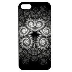 Fractal Filigree Lace Vintage Apple Iphone 5 Hardshell Case With Stand