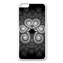 Fractal Filigree Lace Vintage Apple Iphone 6 Plus/6s Plus Enamel White Case