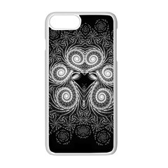 Fractal Filigree Lace Vintage Apple Iphone 8 Plus Seamless Case (white)