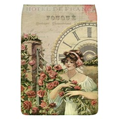 French Vintage Girl Roses Clock Flap Covers (l)