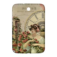 French Vintage Girl Roses Clock Samsung Galaxy Note 8 0 N5100 Hardshell Case