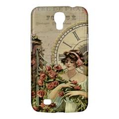 French Vintage Girl Roses Clock Samsung Galaxy Mega 6 3  I9200 Hardshell Case