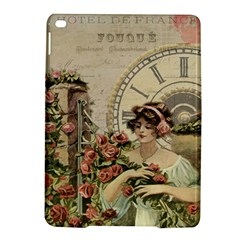French Vintage Girl Roses Clock Ipad Air 2 Hardshell Cases