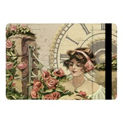 French Vintage Girl Roses Clock Apple Ipad Pro 10 5   Flip Case