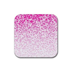 Halftone Dot Background Pattern Rubber Coaster (square)