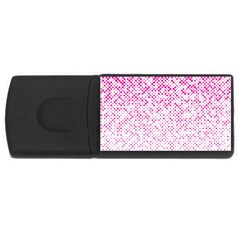 Halftone Dot Background Pattern Rectangular Usb Flash Drive