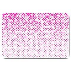 Halftone Dot Background Pattern Large Doormat