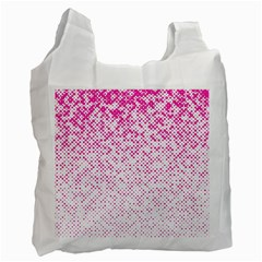 Halftone Dot Background Pattern Recycle Bag (two Side)