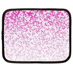 Halftone Dot Background Pattern Netbook Case (xl)
