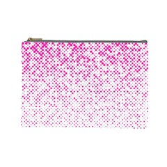 Halftone Dot Background Pattern Cosmetic Bag (large)