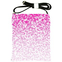 Halftone Dot Background Pattern Shoulder Sling Bags