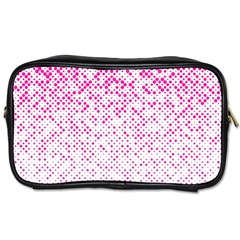 Halftone Dot Background Pattern Toiletries Bags