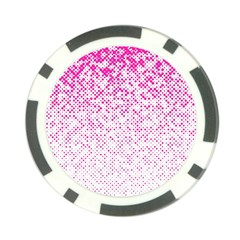 Halftone Dot Background Pattern Poker Chip Card Guard (10 Pack)
