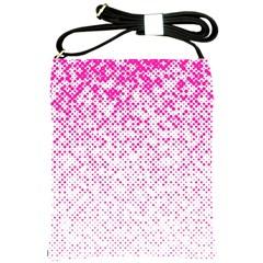 Halftone Dot Background Pattern Shoulder Sling Bags