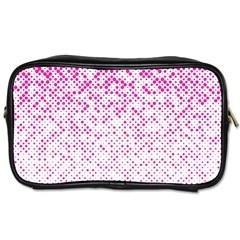 Halftone Dot Background Pattern Toiletries Bags 2 Side