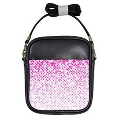 Halftone Dot Background Pattern Girls Sling Bags