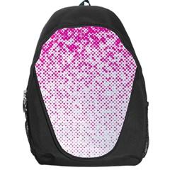 Halftone Dot Background Pattern Backpack Bag