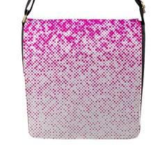 Halftone Dot Background Pattern Flap Messenger Bag (l)