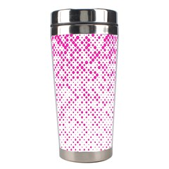 Halftone Dot Background Pattern Stainless Steel Travel Tumblers