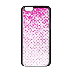 Halftone Dot Background Pattern Apple Iphone 6/6s Black Enamel Case