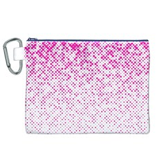 Halftone Dot Background Pattern Canvas Cosmetic Bag (xl)
