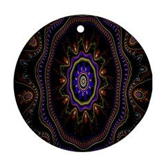 Fractal Vintage Colorful Decorative Round Ornament (two Sides)