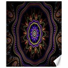 Fractal Vintage Colorful Decorative Canvas 20  X 24