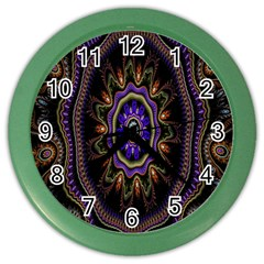 Fractal Vintage Colorful Decorative Color Wall Clocks