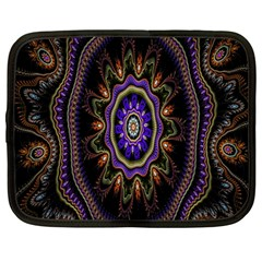 Fractal Vintage Colorful Decorative Netbook Case (large)