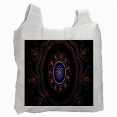 Fractal Vintage Colorful Decorative Recycle Bag (one Side)