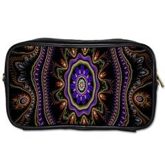 Fractal Vintage Colorful Decorative Toiletries Bags