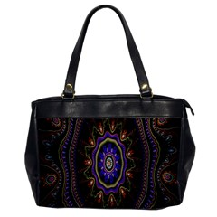 Fractal Vintage Colorful Decorative Office Handbags