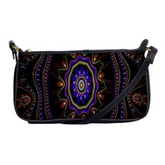 Fractal Vintage Colorful Decorative Shoulder Clutch Bags