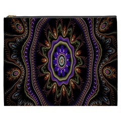 Fractal Vintage Colorful Decorative Cosmetic Bag (xxxl)