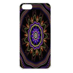 Fractal Vintage Colorful Decorative Apple Iphone 5 Seamless Case (white)