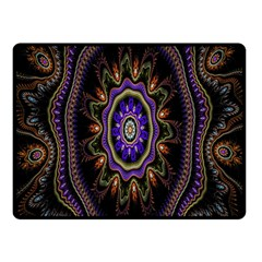 Fractal Vintage Colorful Decorative Double Sided Fleece Blanket (small)