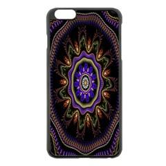Fractal Vintage Colorful Decorative Apple Iphone 6 Plus/6s Plus Black Enamel Case