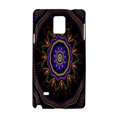 Fractal Vintage Colorful Decorative Samsung Galaxy Note 4 Hardshell Case