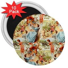 Seamless Vintage Design 3  Magnets (10 Pack)