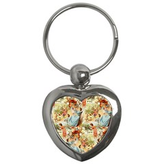 Seamless Vintage Design Key Chains (heart)