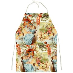 Seamless Vintage Design Full Print Aprons